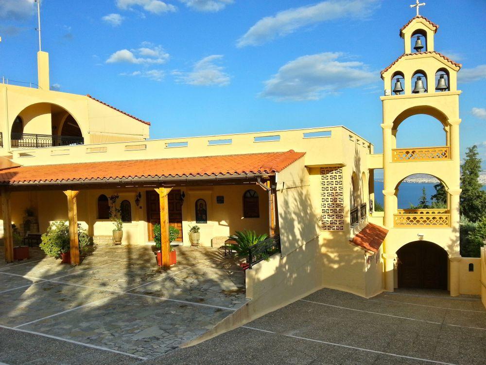 Grecia, Creta, peisaj, arhitectura, biserica, religie, structura construita, exterior cladire