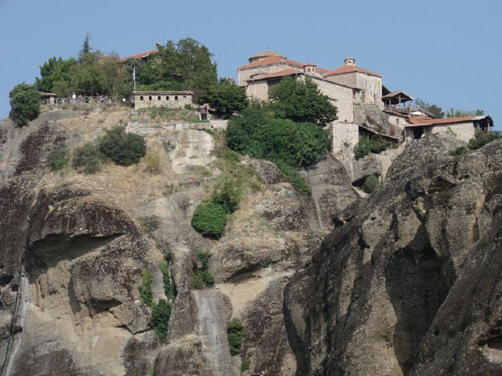 Grecia, Trikala, Meteora, arhitectura, structura construita, exterior cladire, istorie, copac