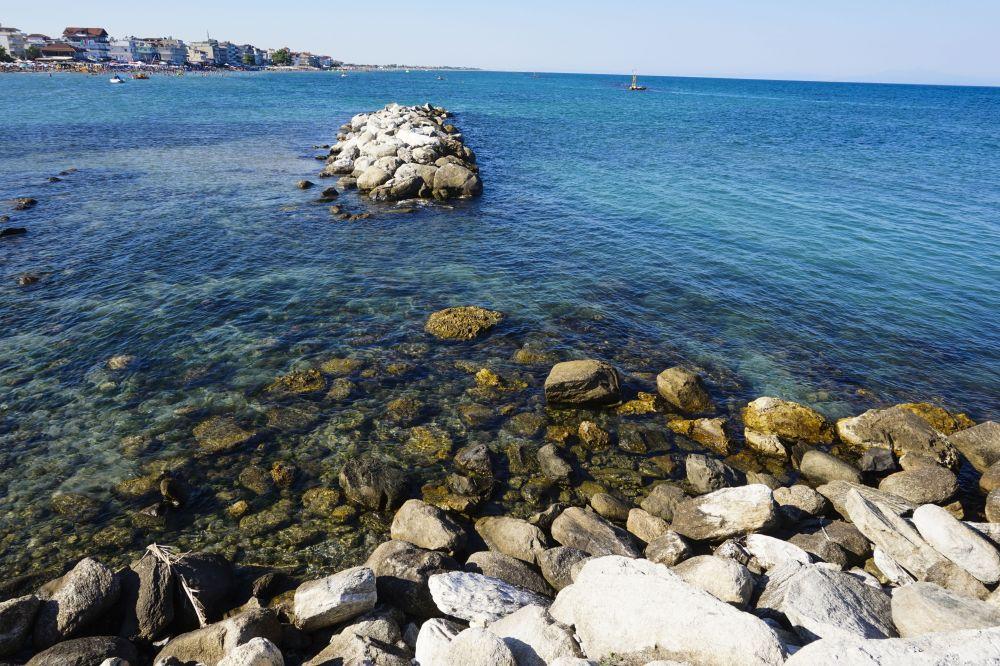 Paralia, Grecia, vacanta, vara, ocean, pietre, stanca, apa