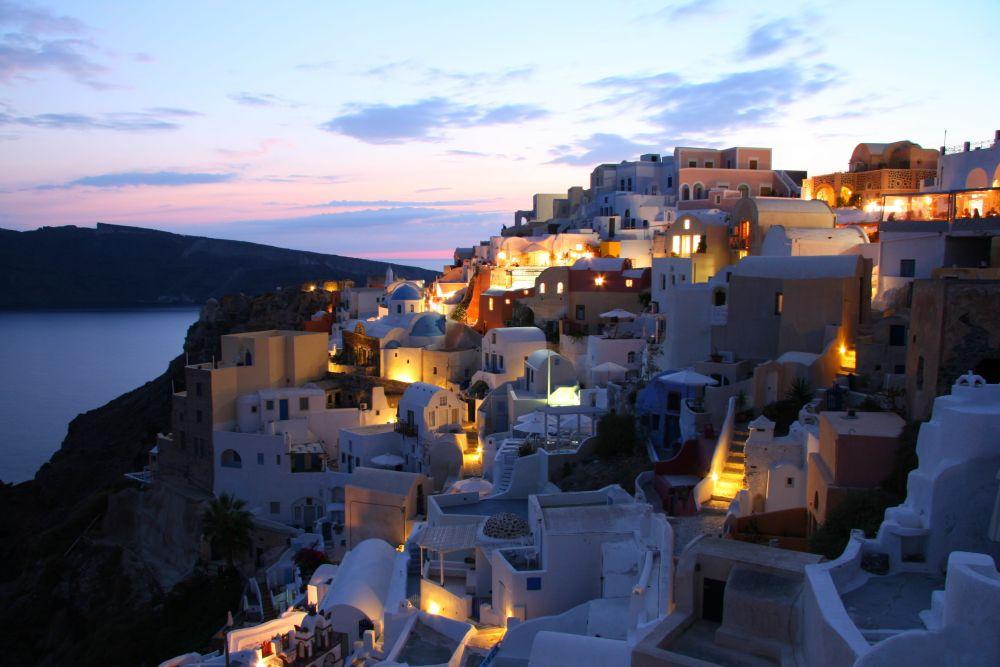 Santorini, Grecia, Marea Egana, arhitectura, cladiri, oras, Grecia, iluminat, Santorini