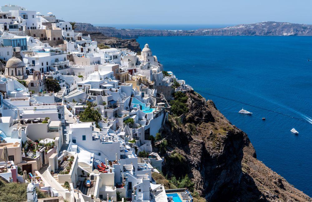 Santorini, Grecia, arhitectura, plaja, oras, peisaj urban, stanca, Grecia, insula