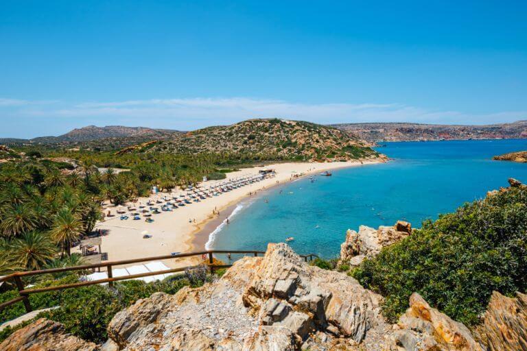 Insula Creta isi prezinta frumusetea naturala salbatica pe divina plaja Vai